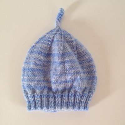 850835a4057 100% NZ Wool Baby Hat – Blue and Grey