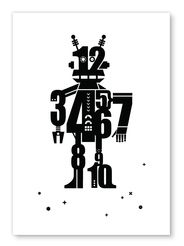 Numbot robot print a4 black