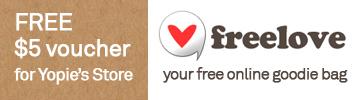 free $5 freelove voucher for Yopie's Store